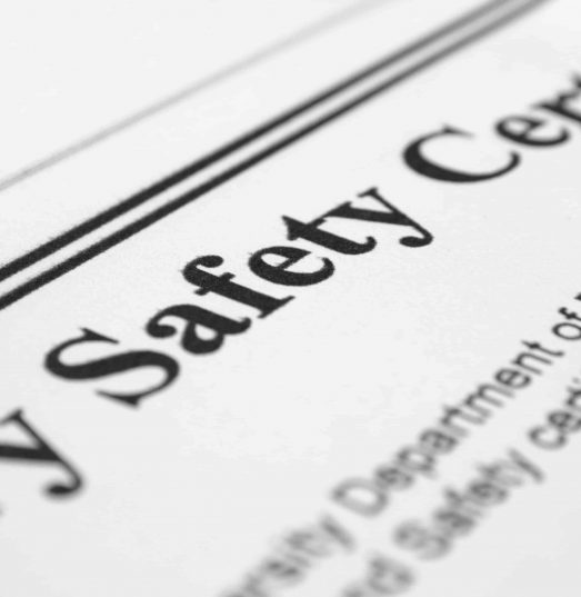 Farm insurance with valid health and safety certificate