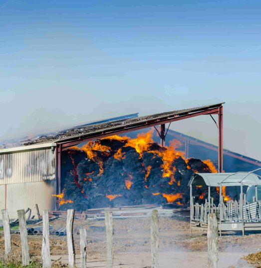 Does farm insurance cover fires in sheds?